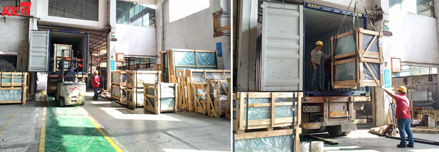 KXG Loading tempered laminated glass to Philippines