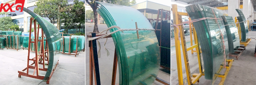 safety clear tempered curved glass