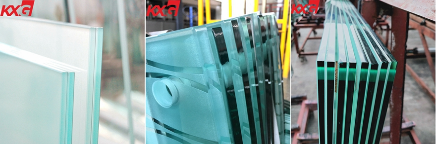 frosted safety tempered laminated glass