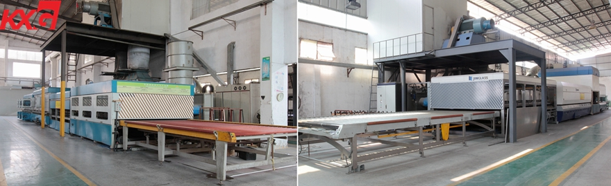 safety tempered shower glass production line
