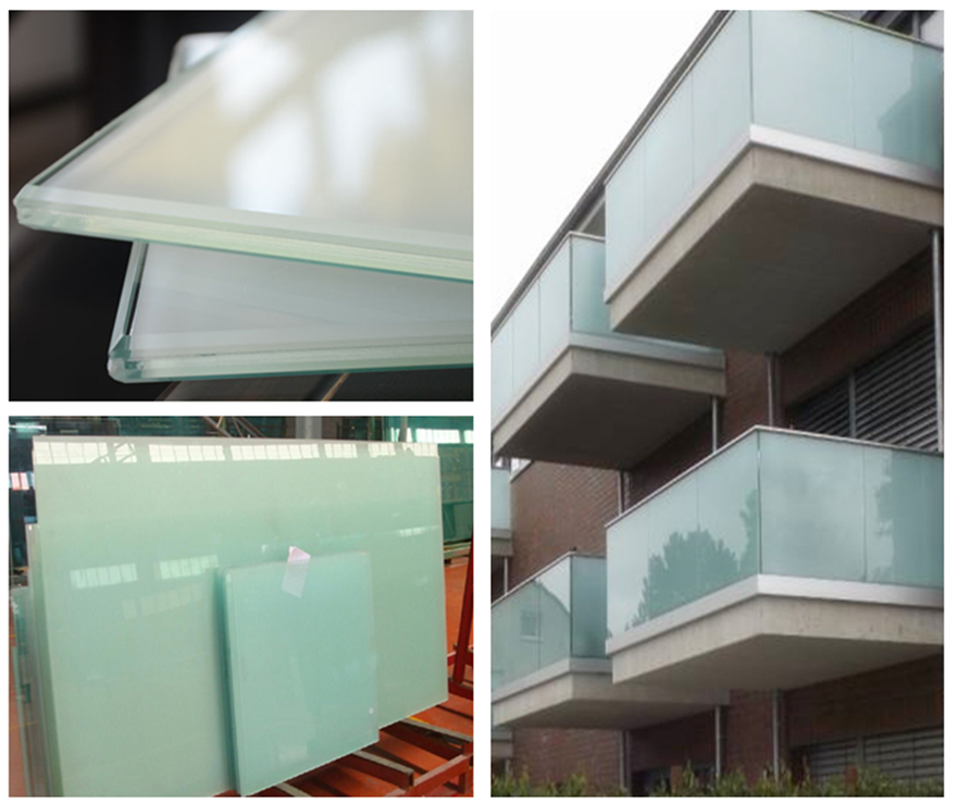 milky white ceramic white tempered laminated glass application