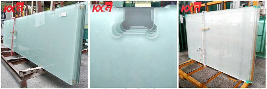 acid etched safety tempered glass