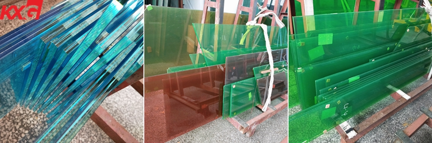 blue green color PVB film toughened laminated glass