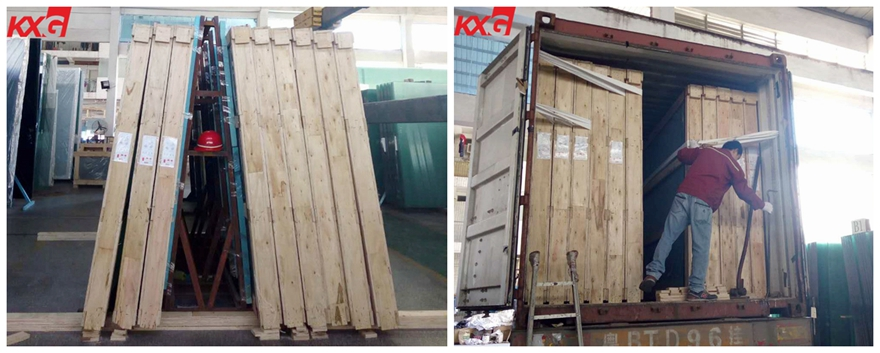 19mm tempered glass wooden package