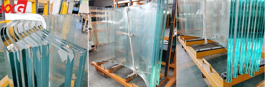 21.52mm ultra clear curved toughened laminated glass