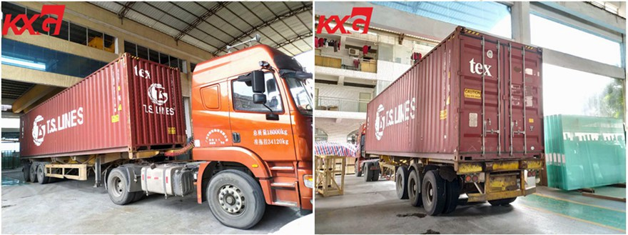 KXG loading glass to Philippines