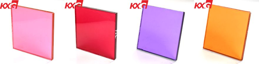laminated glass with color film
