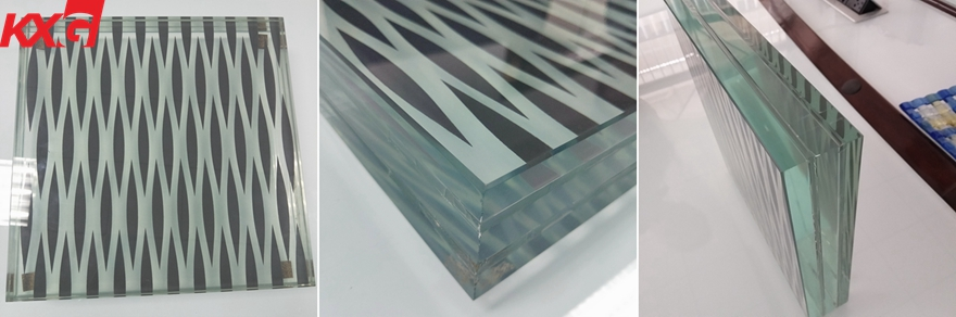 silkscreen laminated safety glass factory