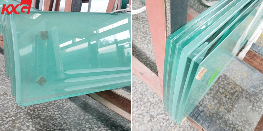 safety frosted lamianted glass stair