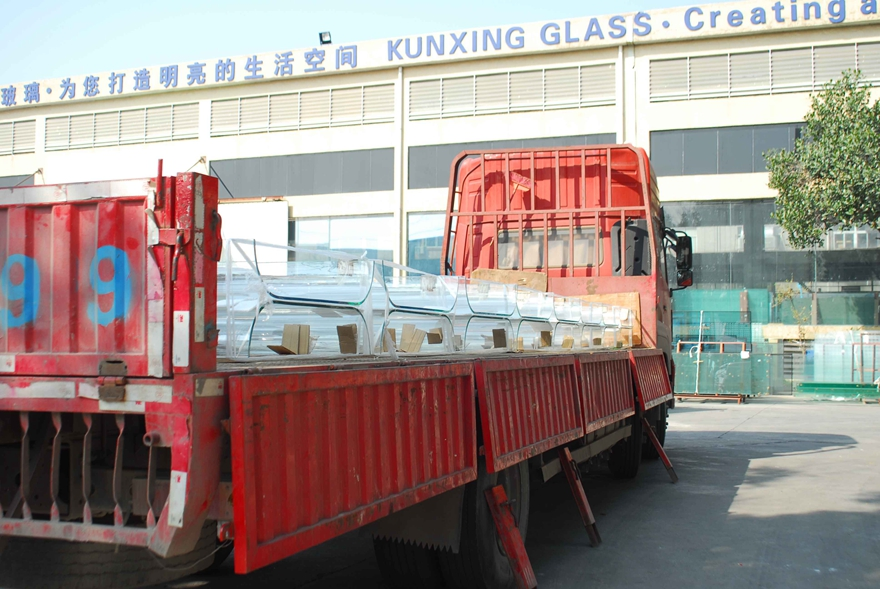 Hot bending glass
