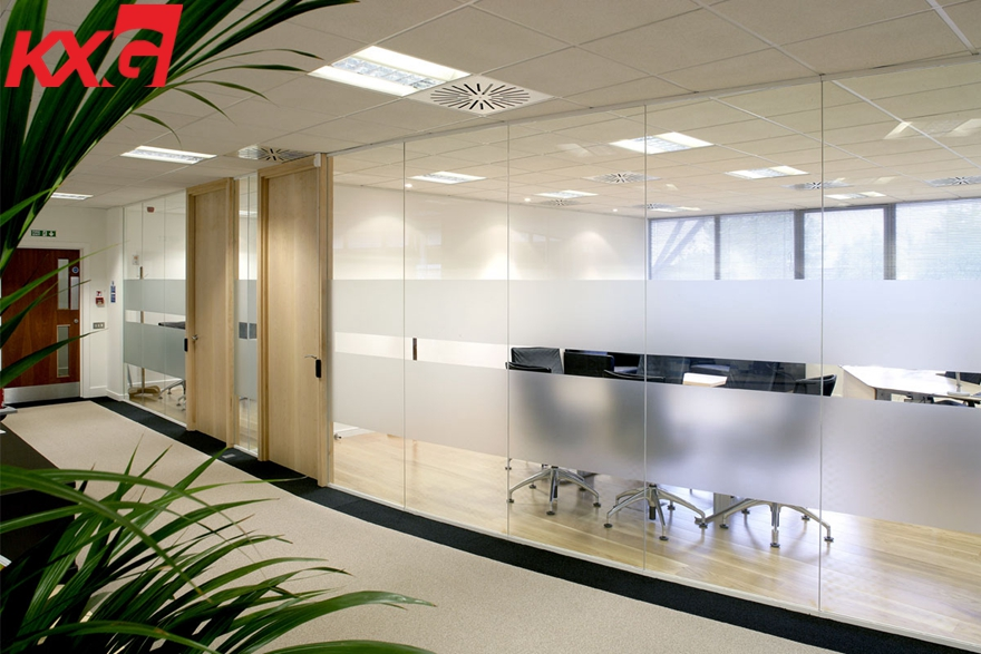 Glass partition use for office