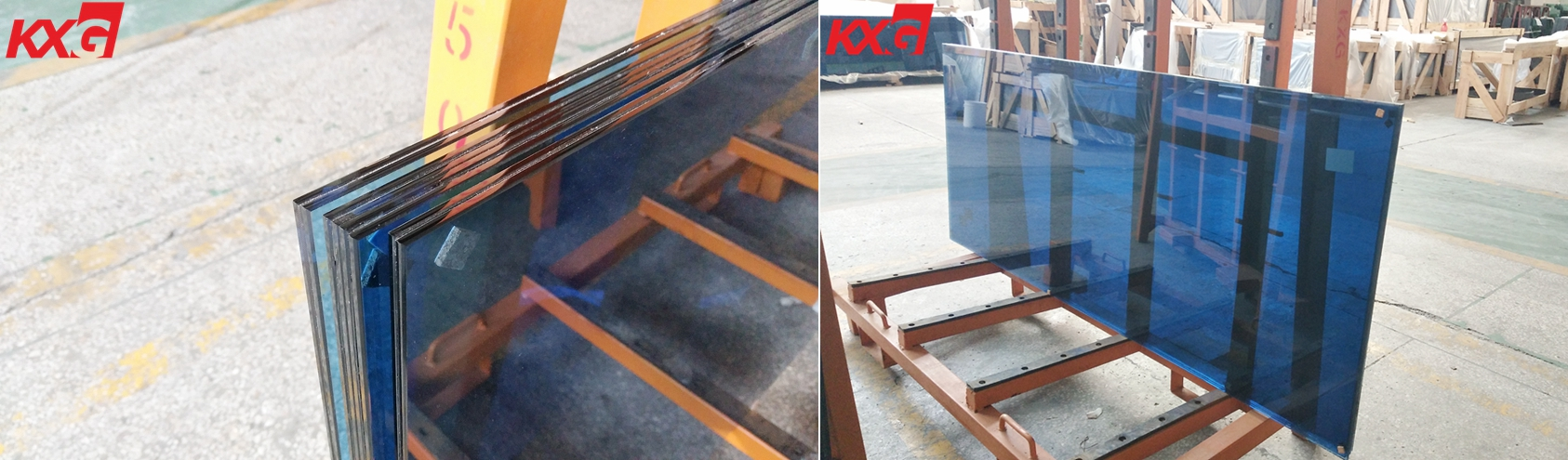 6.38mm color pvb film laminated glass