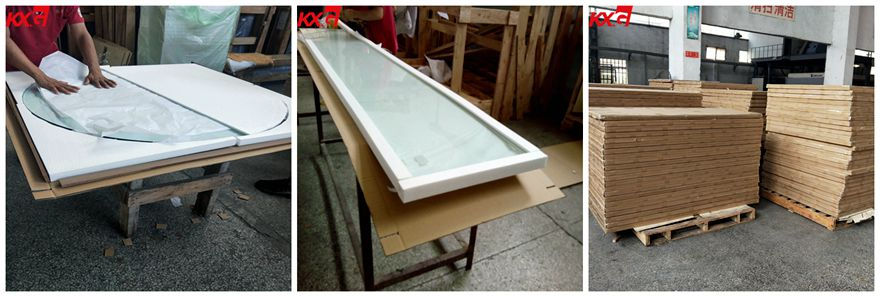 table top glass packing