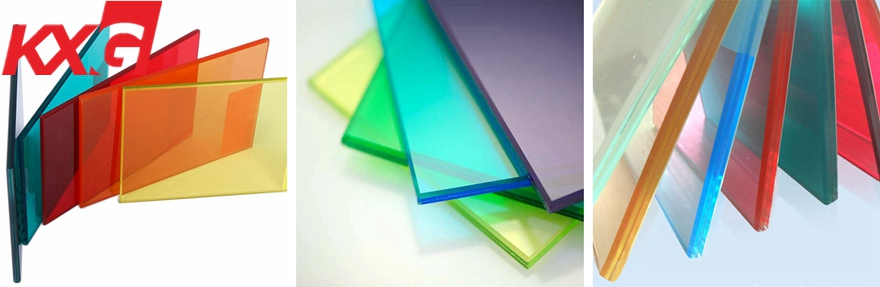 color PVB toughened laminated glass multi-color laminated glass