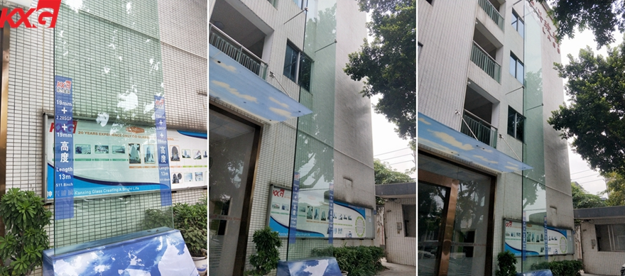KXG strong safety 19+2.28mm+19mm SGP tempered laminated glass