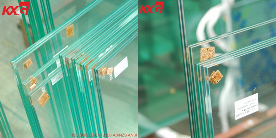 884 clear tempered laminated glass handrail