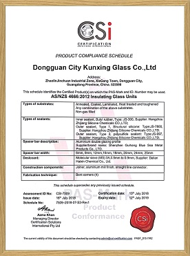 AS/NZS 4666:2012 Safety Insulating Glass Unit