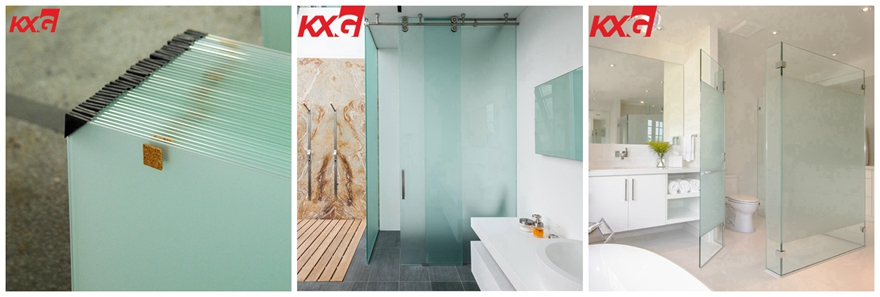 Privacy protection glass factory 10mm tempered frosted glass for bathroom