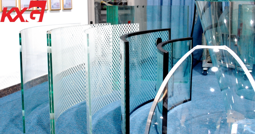 Spiral stair railing curved glass factory