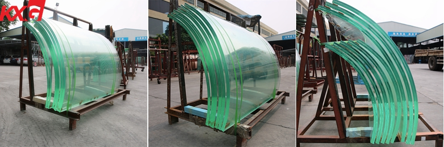 curved laminated tempered glass