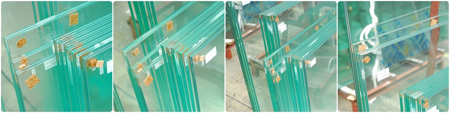 10.38mm clear tempered laminated glass