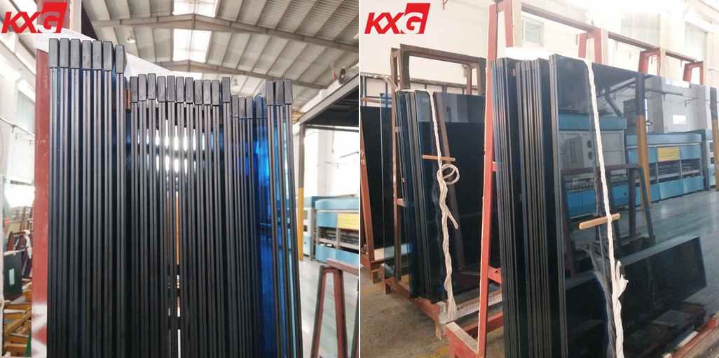 12.76mm blue tinted toughened laminated glass
