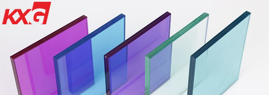 10.76mm multi color PVB toughened laminated glass