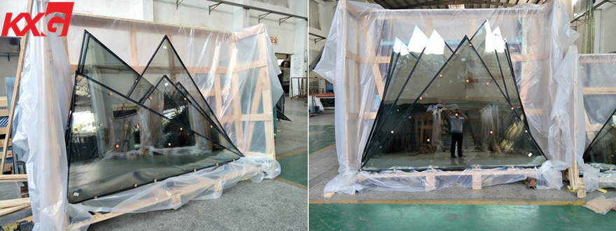 special shaped tempered double glazing glass