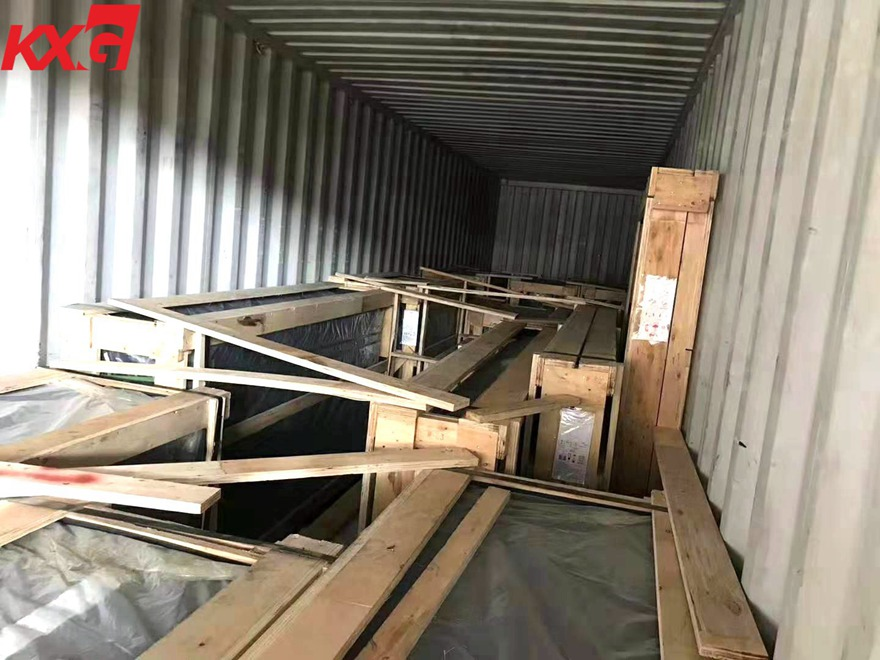 loading insulated glass to Cambodia