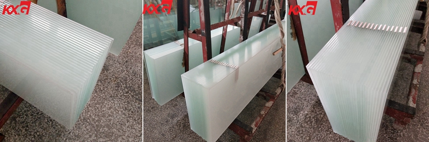 acid etched tempered safety glass