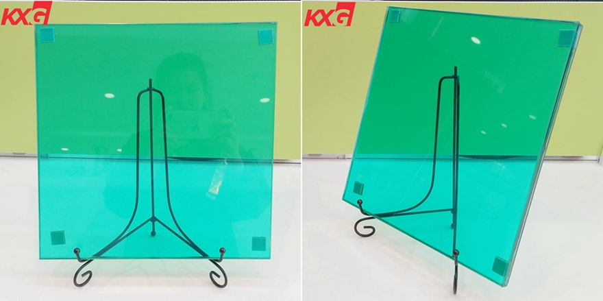 17.52 dark green PVB film tempered laminated glass