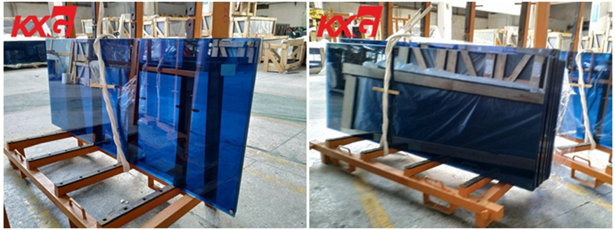 blue tempered glass