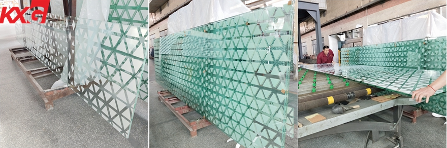 jumbo size color silkscreen printing tempered glass