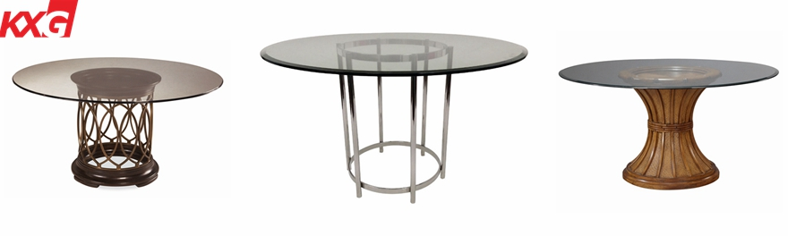 bronze tempered table top glass