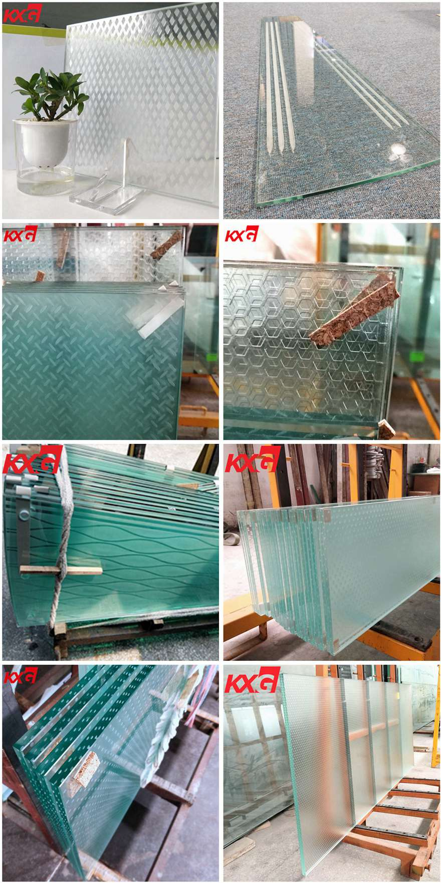 Low iron ultra clear anti slip glass