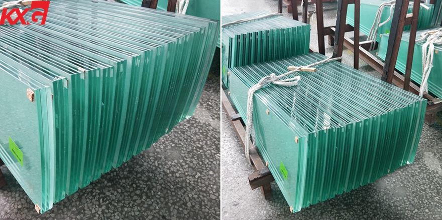 safety triple tempered laminated glass stair