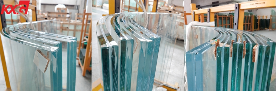 21.52mm ultra clear curved toughened laminated glass (1)