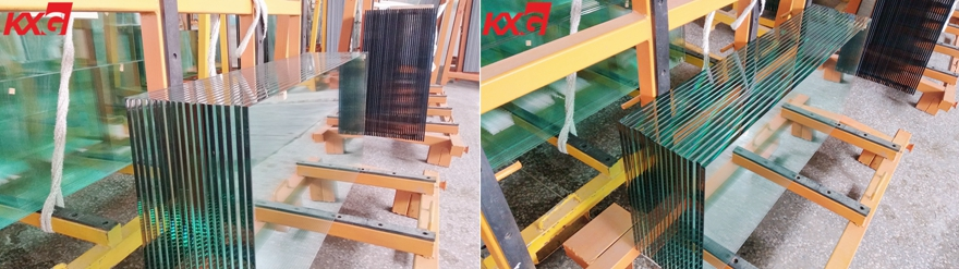 12mm half tempered glass factory