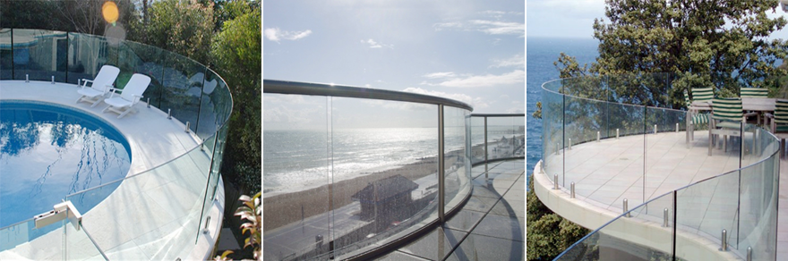 lamianted glass railing