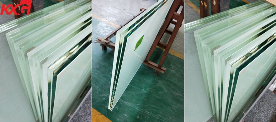 acid etched frosted laminated glass