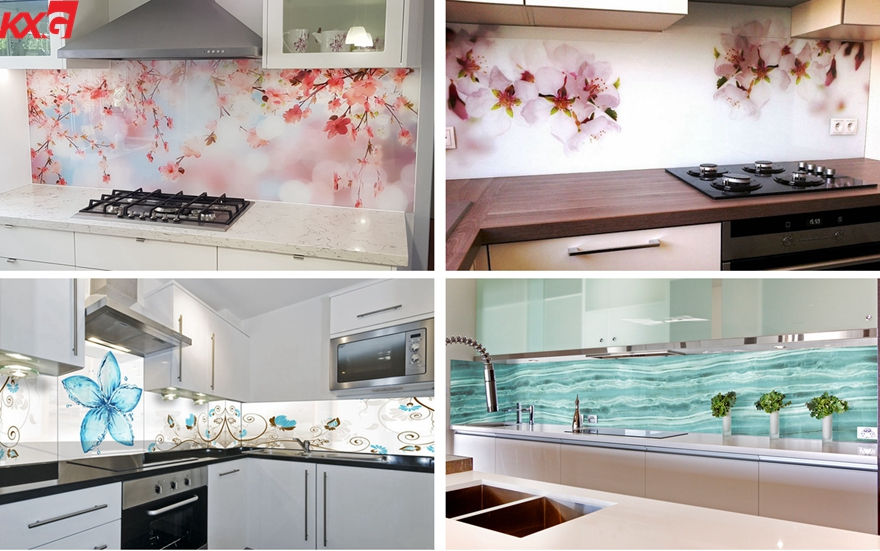 tempered splash back glass