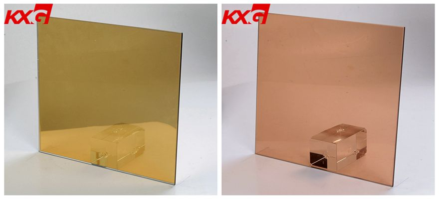 gold bronze tinted glass