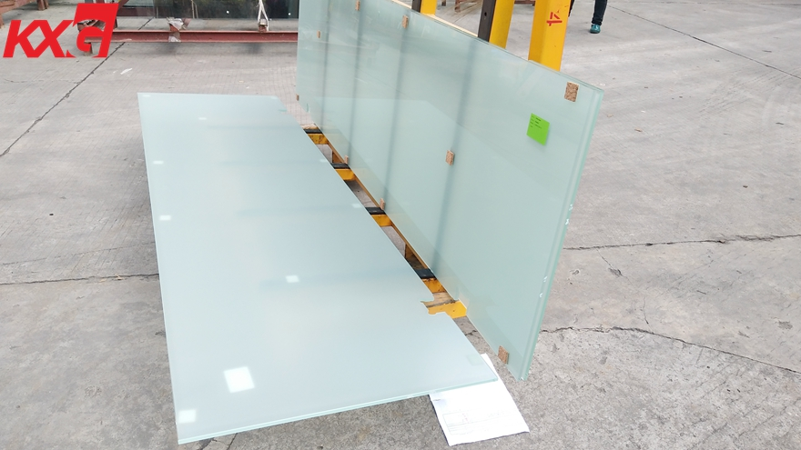 10mm clear toughened frosted glass
