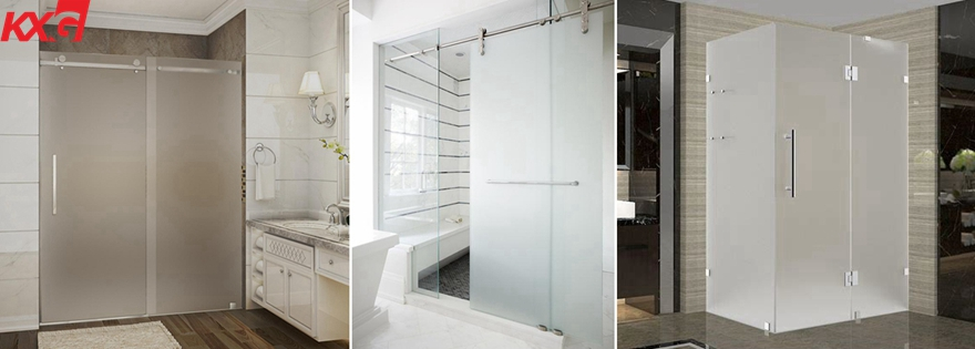 frosted translucent tempered laminated glass shower