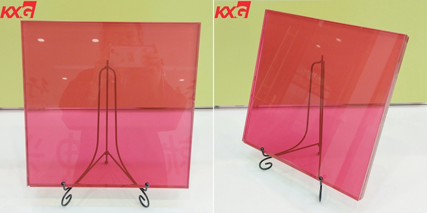 17.52 red PVB film tempered laminated glass
