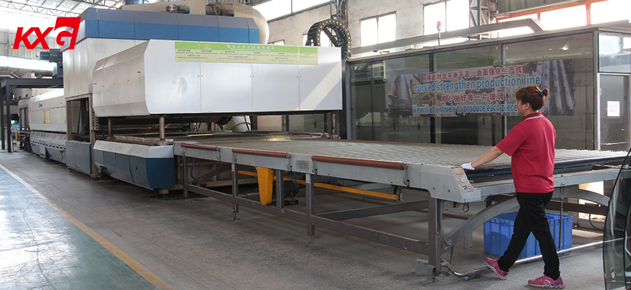 KXG Curved tempered glass making furnance