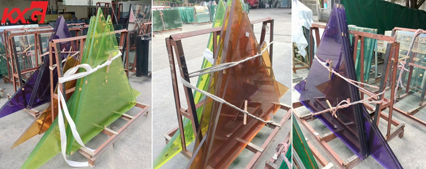 color PVB film toughened laminated glass
