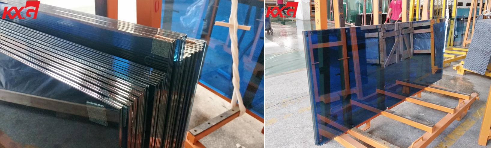 12.76mm blue tinted tempered laminated glass