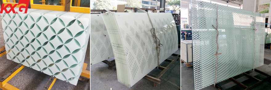 silkscreen tempered laminated safety glass
