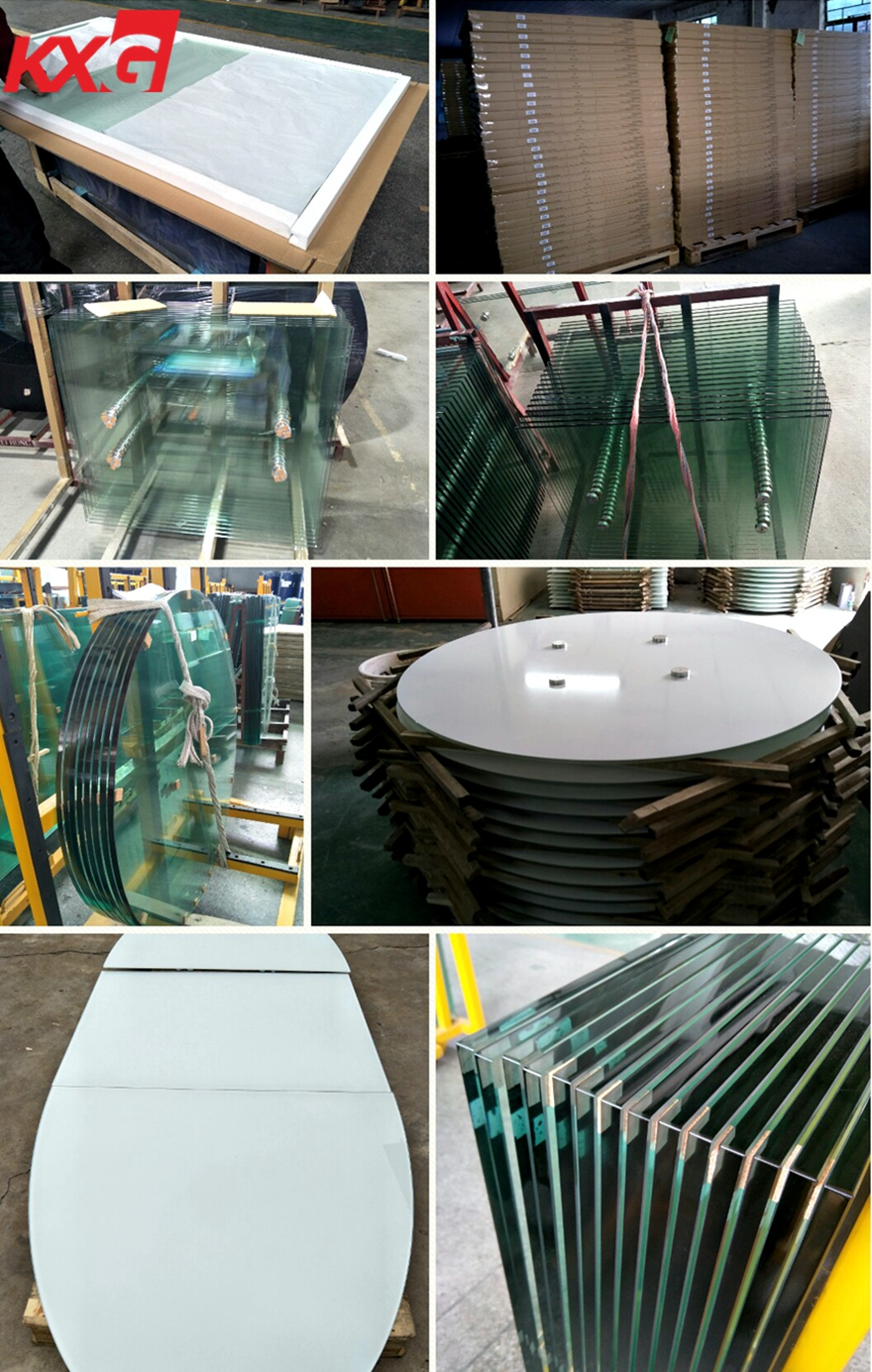 China good quality tempered table top glass factory package